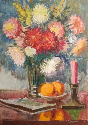 Зернова Екатерина Сергеевна. Натюрморт со свечей