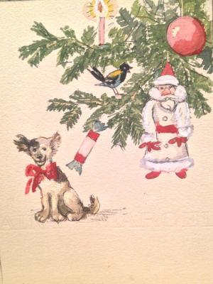 "Krylov P. N. ""Christmas card."""