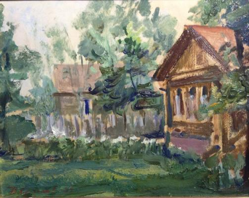 "Krylov P. N. ""House in the village."""