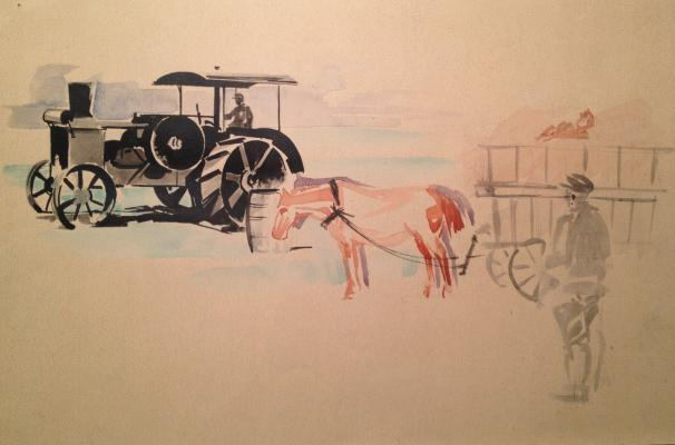 "Ushakov-Poskochin M. V. ""State Farm Giant . The first tractor"""