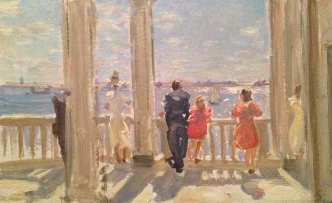 "Gershanik R. V. ""Sea view from the balcony."""