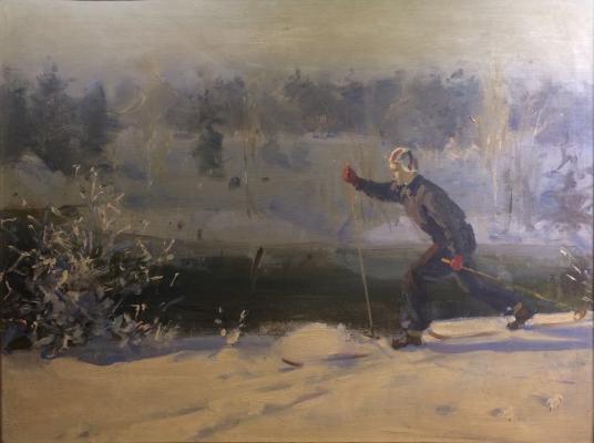 Gershanik Roman Vasilyevich - A ski trip in Shusherino.