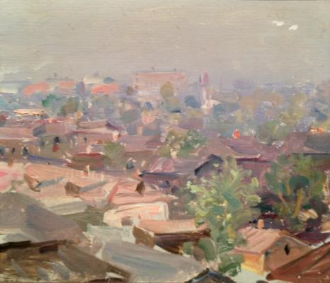 "Gershanik R. V. ""Moscow. View from the window of the studio."""