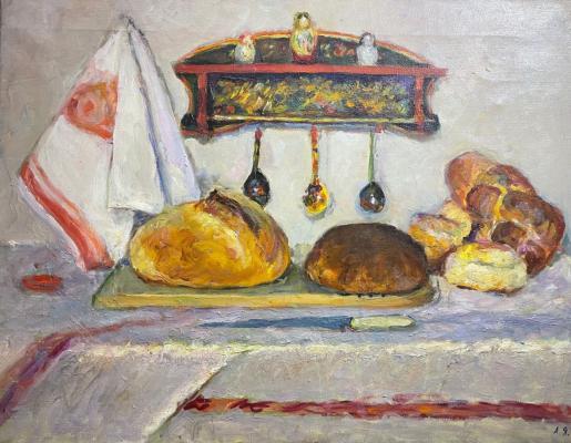 """Yakusheva A. I. """"Still life with bread"""""""