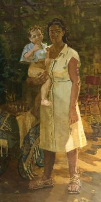 Горлов Николай Николаевич. Молодая мать