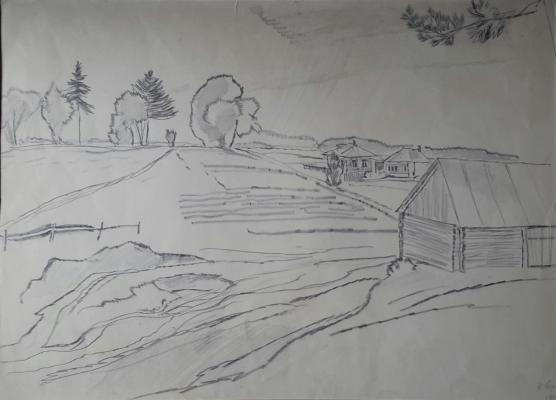 "Troshin N. ""Landscape with the house."""