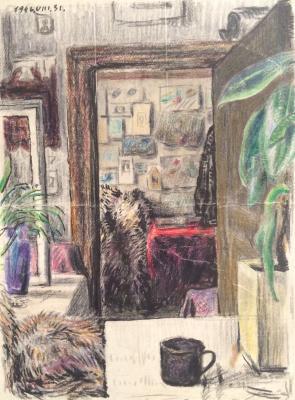 "Sitnikov V. Y. ""Interior of the room."""