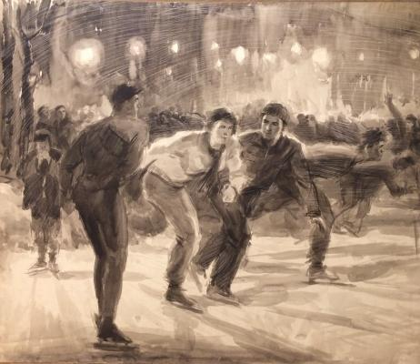 Neznaykin Ivan Petrovich - On the rink.
