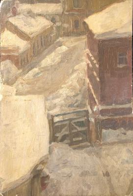 Крымов Николай Петрович. Крыши зимой