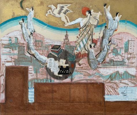 Гончаров Андрей Дмитриевич. Аполлон и 9 муз