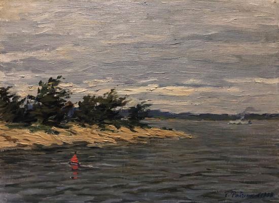 Рыбченков Борис Федорович. На реке. Холодный день