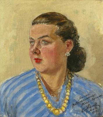 "Adlivankin S. Y. ""Portrait of T. Laznik"""