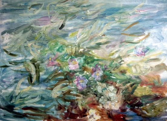 "Romanovich S. M. ""Lilies in a pond"""