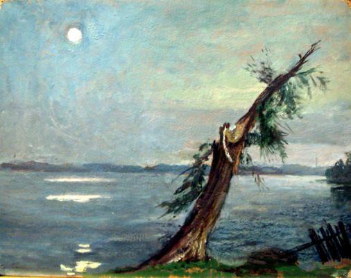 """Shifrin N. A. """"Lake Senezh . Evening"""""""