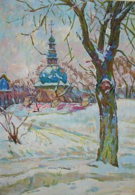 """Chegodar V. D. """"Last snow. Kiev"""""""