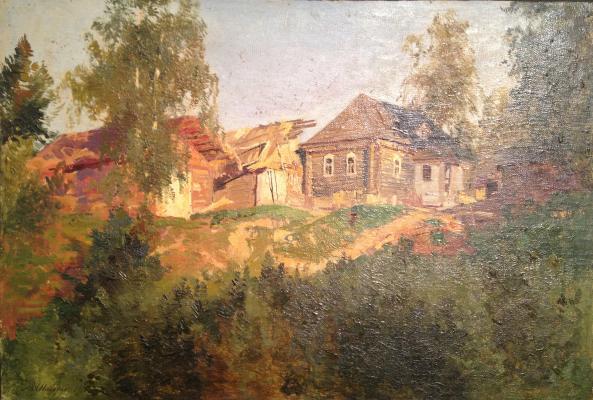Шильдер Андрей Николаевич. Окраина села.