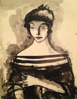 "Sokolov M. K. ""The lady in the neck with stripes."""