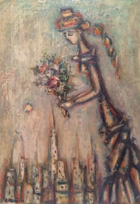 "Tyshler (Dzhin-Zhdikh-Shvil) A. G. ""Girl with a bouquet."""