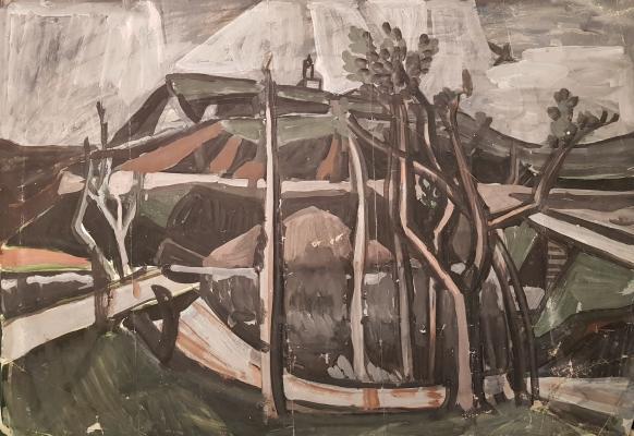 Васнецов Андрей Владимирович. Пейзаж с птичкой