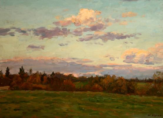 "Kugach Y. P. ""September evening."""