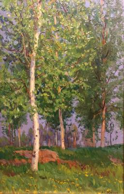 "Kugach Y. P. ""Birch in the sun"""
