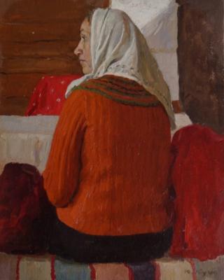 Кугач Юрий Петрович. Женщина в оранжевой кофте