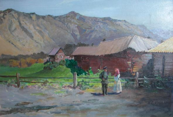 "Kotov N. G. ""The village in the mountains"""