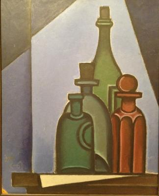 "Krasnopevtsev D. M. ""Composition with bottles."""