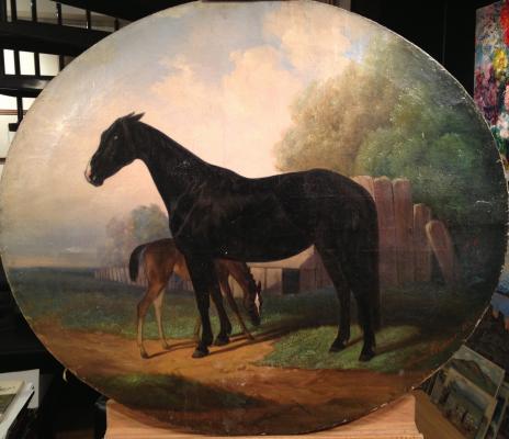 """Sverchkov N. Y. """"Mare with foal"""""""
