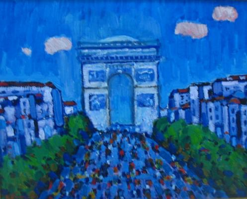 "Britov K. N. ""Arc de Triomphe in Paris."""