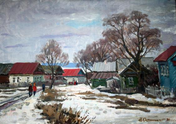 "Ovchinnikov N. V. ""Winter. New village."""