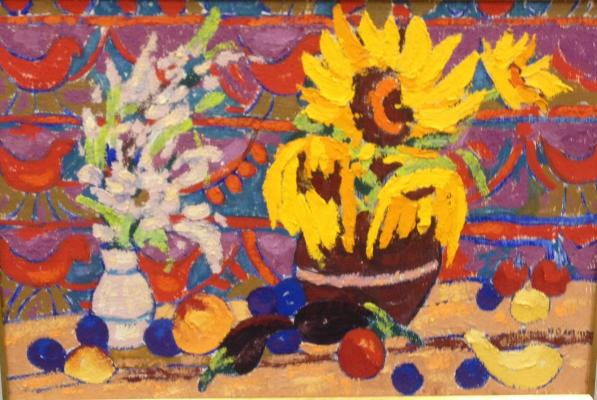 "Modorov O. N. ""Still life with sunflowers."""