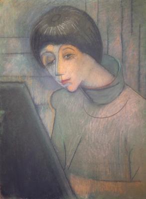 Рудаков Михаил Захарьевич. Портрет девушки