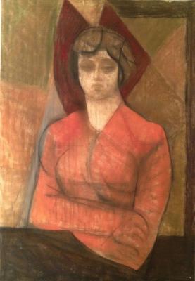 """Rudakov M. Z. """"Portrait of artist Margaret Kesler"""""""