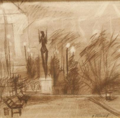 "Obrosov I. P. ""City landscape."""
