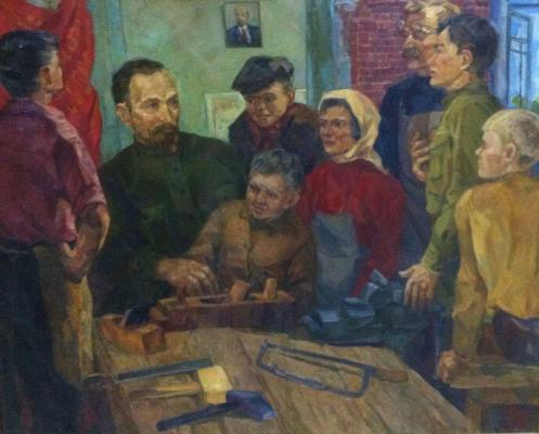 "Yegorov V. S. ""F. E. Dzerzhinsky in the commune."""