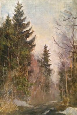 """Sokolov N. A. """"Spring. Abramtzevo."""""""