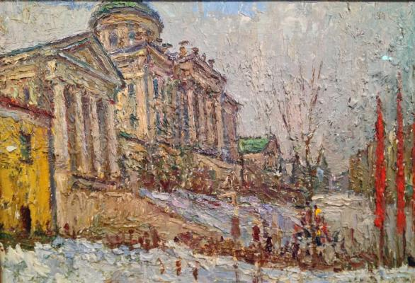 "Bezikovich B. N. ""Moscow. At the Lenin Library"""
