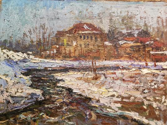 Безикович Борис Николаевич. Пейзаж с домом