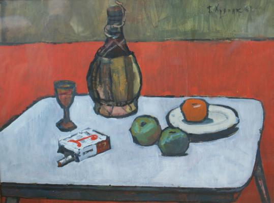 "Khrapak G. V. ""Still-life with a pack of cigarettes"""