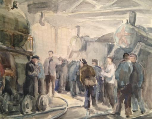 "Krivitsky  ""In the depot."""