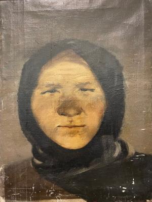 Гапоненко Тарас Гурьевич. Портрет женщины в платке