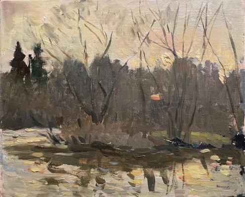Гапоненко Тарас Гурьевич. Закат на реке
