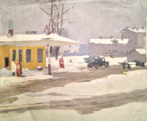 "Nazarov P. F. ""At a gas station ."""