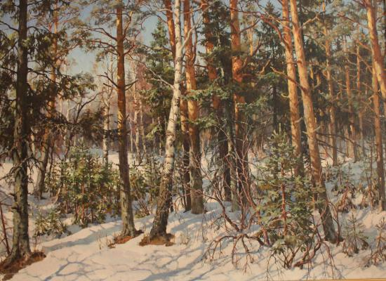 "Pamfilov V. Y. ""Forest in March."""