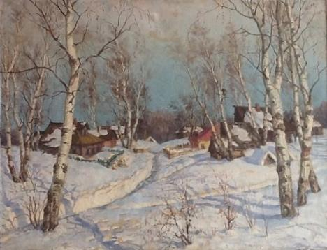 "Pamfilov V. Y. ""Winter in the village."""