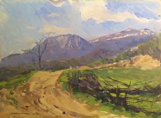 """Obolensky M. V. """"Mountain landscape."""""""