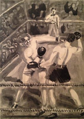 """Neizvestny khudozhnik  """"Boxing"""""""