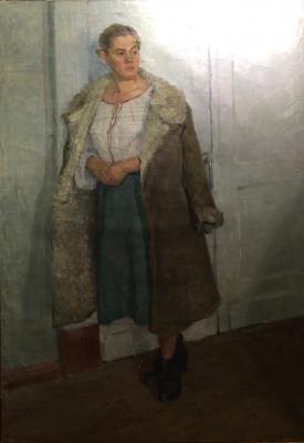 "Neizvestny khudozhnik  ""Girl in a fur coat."""
