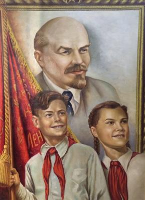 """Neizvestny khudozhnik  """"Soviet pioneers."""""""